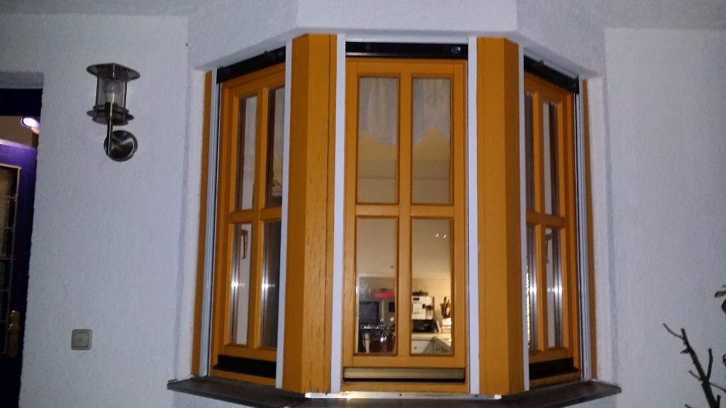 Fenster saniert vorher nachher, Eckfenster