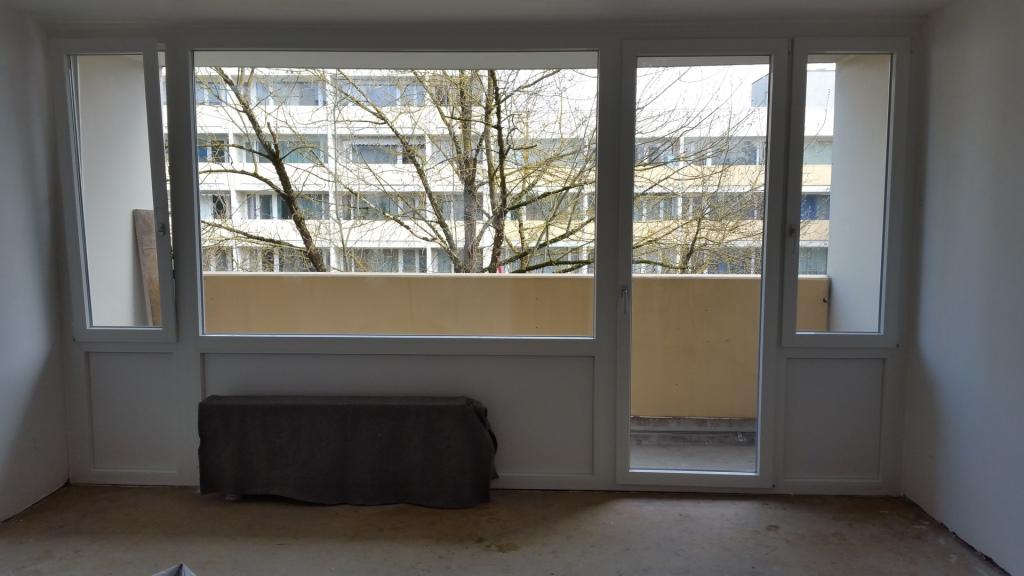 Wohnung Fenster Sanierung München, Fensterelement, oberer Stock,