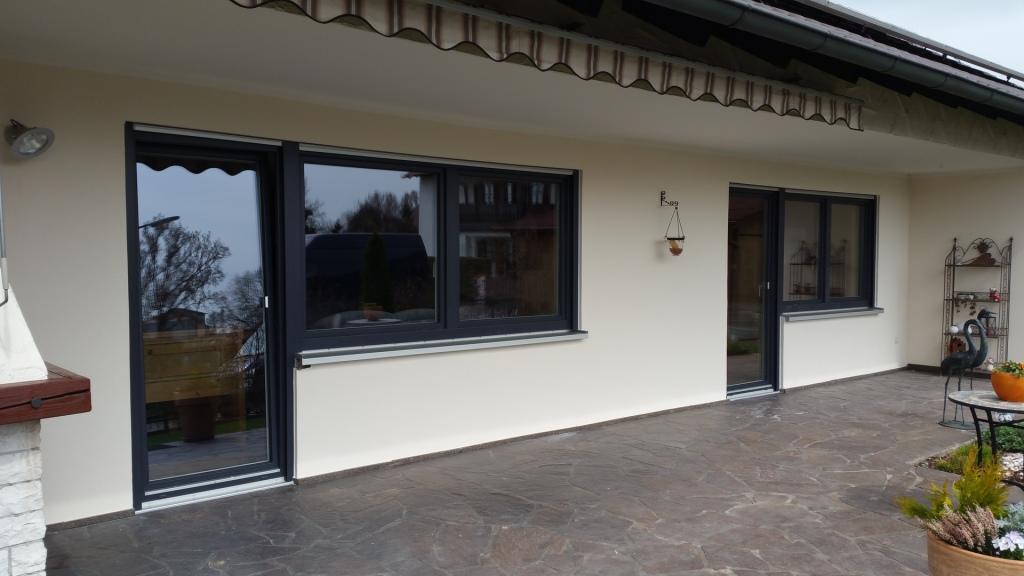 Fenster Kombination mit Türe nach dem Fensterwechsel