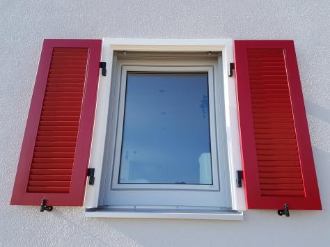 Fensterladen für Fertighaus, Fertighaus, Fensterladen, Fensterladenbeschlag Fertighaus,