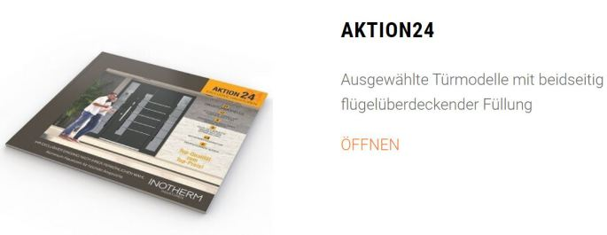 Inotherm Aktion24 Aktionstüren