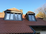 Gaubenfenster mit Vorbaurollladen rund