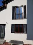 Fensterladen anthtrazit, Zierladen, Fenster Mahagoni, Ehret,