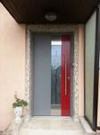 Haustüre grau und rot