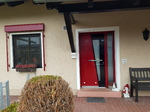 Inotherm Haustüre mit Glas in Rot bei Langenmosen