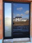 Ganzglas schwarze Haustüre